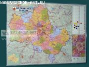 настенная карта Московской области