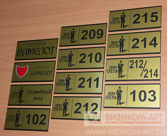 образцы табличек на кабинеты - фото 10